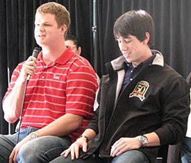 Hungover matt cain answers questions with lincecum in 08 gt