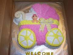 Baby Shower Cake with a fondant baby