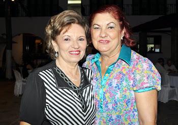 Giselda e Argentina Andrade - Presidente da Academia Feminina de Letras do Ceará