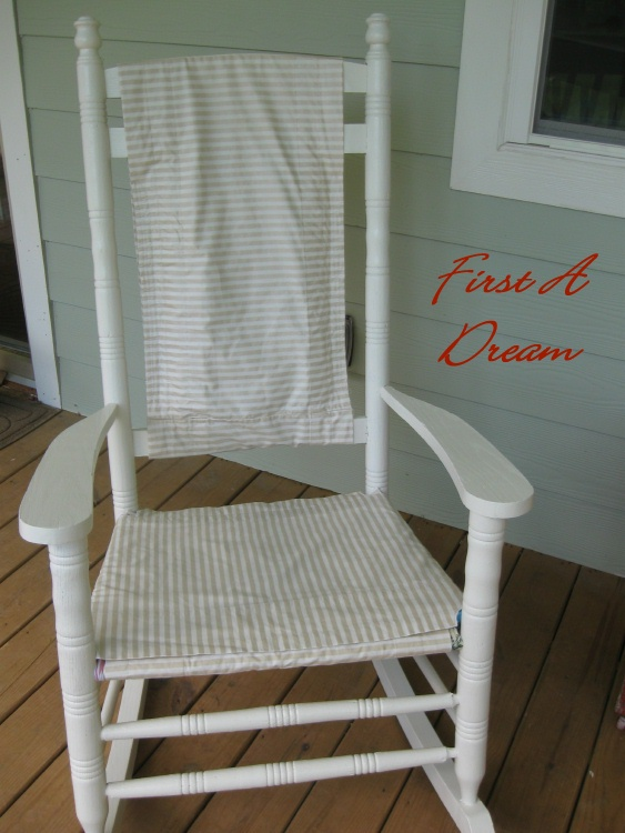 First A Dream Rocking Chair Slipcover