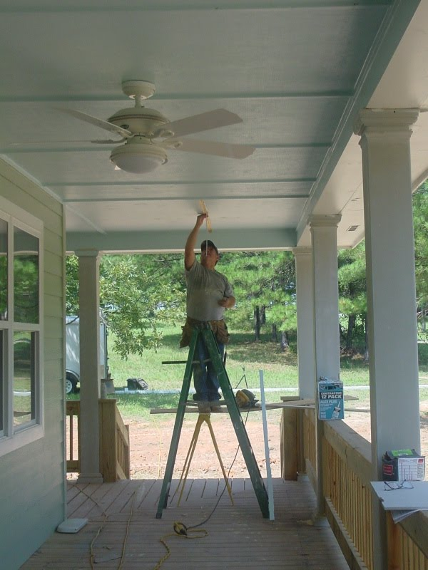 Remodelaholic Blue Porch Ceiling