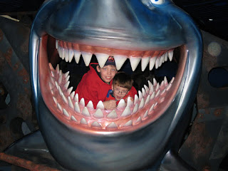 Corbin and Jeremy Inside a Shark