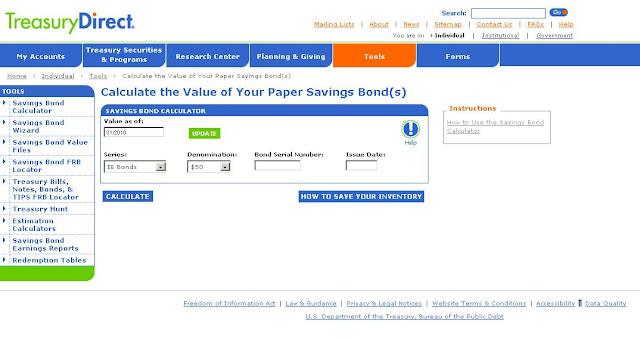 savings bond calculator