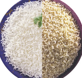 Diabetes risk : brown rice vs white rice