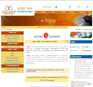 Incometaxindiaefiling.gov.in - Directorate of Income Tax for e-filing IT Return