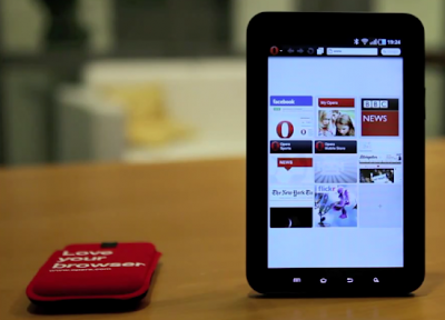 Opera Touch browser for tablet and Netbook : Preview