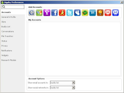 Digsby - Manage IM, Email and Social Networks from one Place