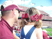 Hannah and Daddy at Kyle Field