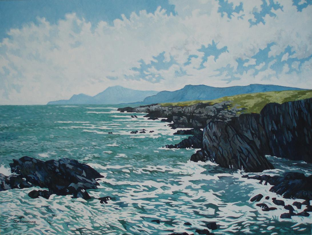Atlantic CoastAchill Island. For Sale Framed Euro 500 (atlantic coast achill island finished smaller)