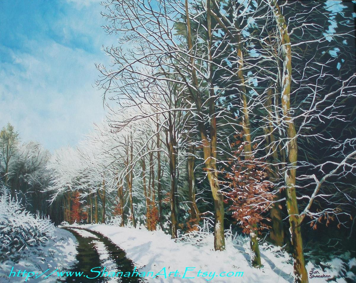Winter in the Woods -- Sold