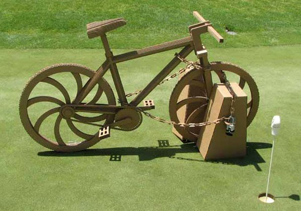 Cozy Beehive Cardboard Bicycle