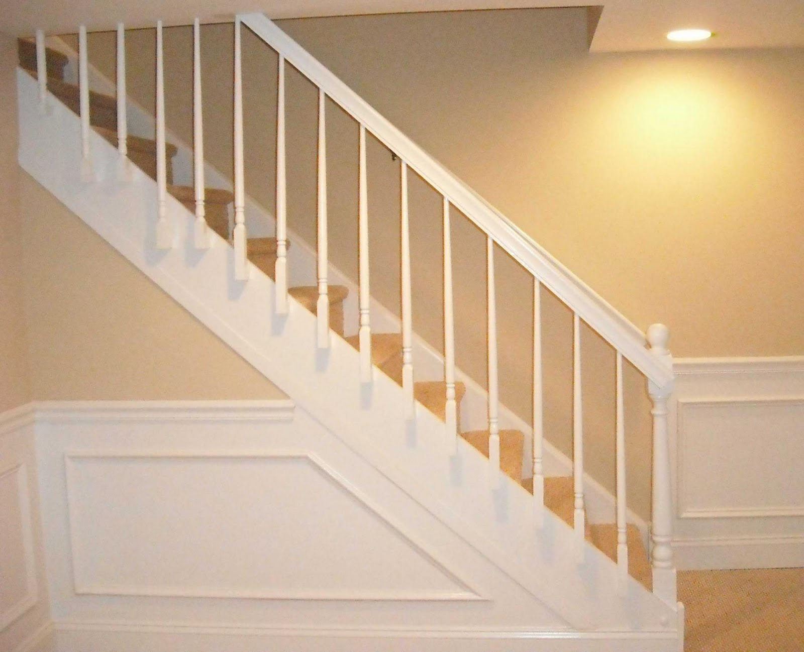 Bigger better best basement boogie ups and downs for Step railing