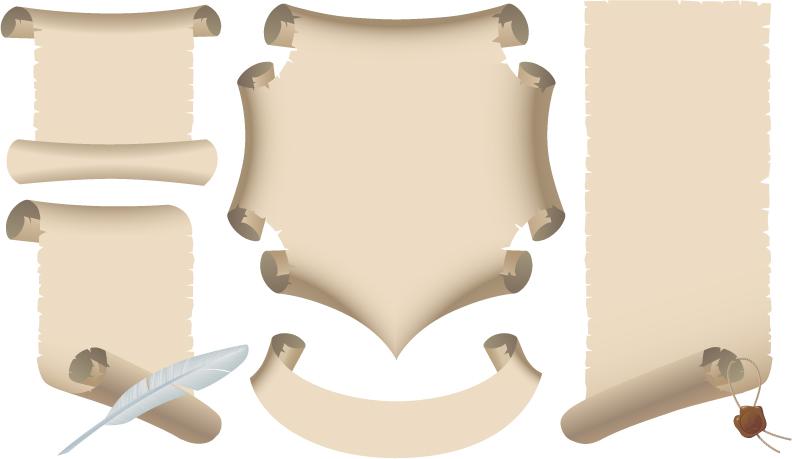 Vector de pergaminos antiguos | Diseño, ilustraciones vectoriales ...