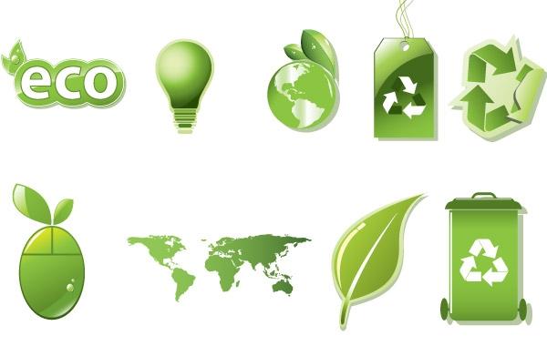 Eco-Friendly Vector Logo PNG