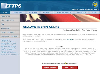 Www.EFTPS.gov: Electronic Federal Tax online Payment
