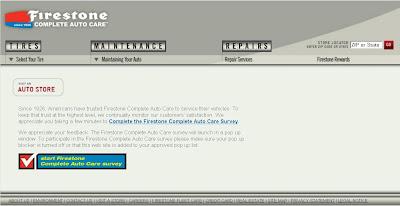 www.FirestoneSurvey.com - Firestone Auto Care Customer Survey