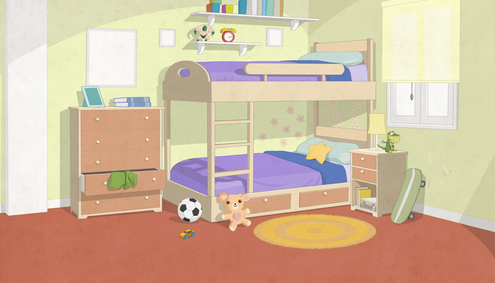 Mansilla ilustraciones - Dibujos habitaciones infantiles ...