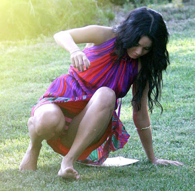 Today's panty watch level provided by Vanessa Hudgens is Striped
