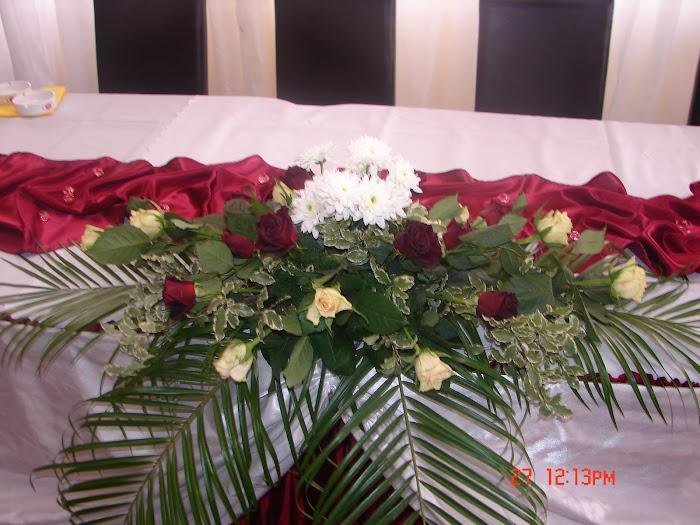 Aranjament floral masa mirilor