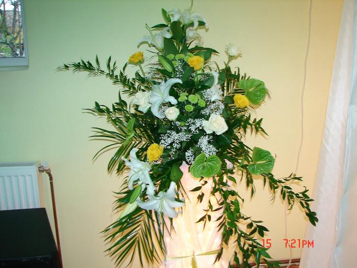Stilpisor 1m cu lumini,flori