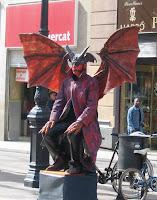 Barcelona Street Statue