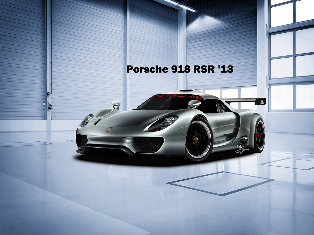 fun and entertainment porsche 918 rsr spyder hybrid race car unveiled. Black Bedroom Furniture Sets. Home Design Ideas