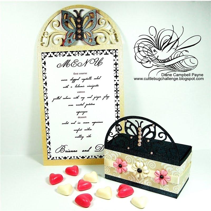 winter wonderland wedding menu cards