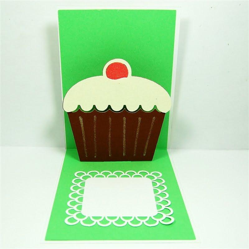 Capadia Designs Pop Up Birthday Cupcake Cards