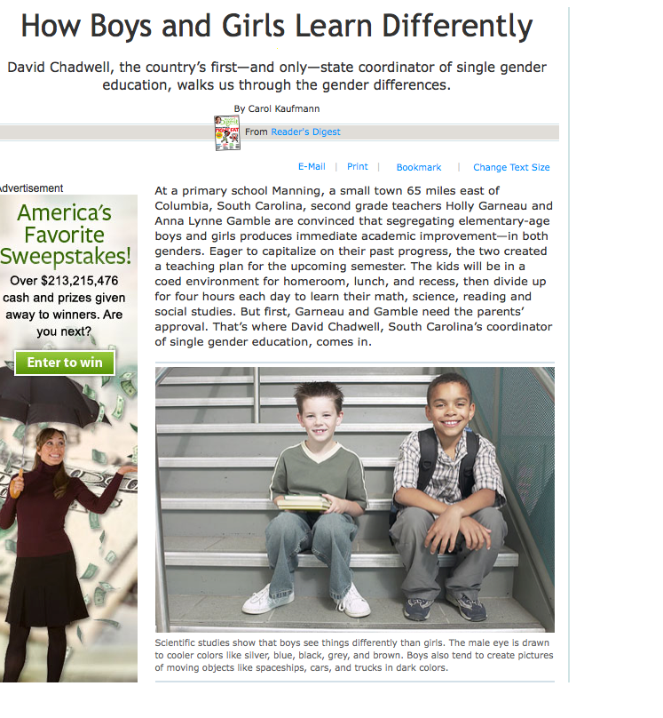 essays on boys learn differently than girls Girls mature earlier in general, and do consistently better than boys in reading- and writing-related skills through college, a reality that no doubt helps explain girls' higher school-achievement level overall.