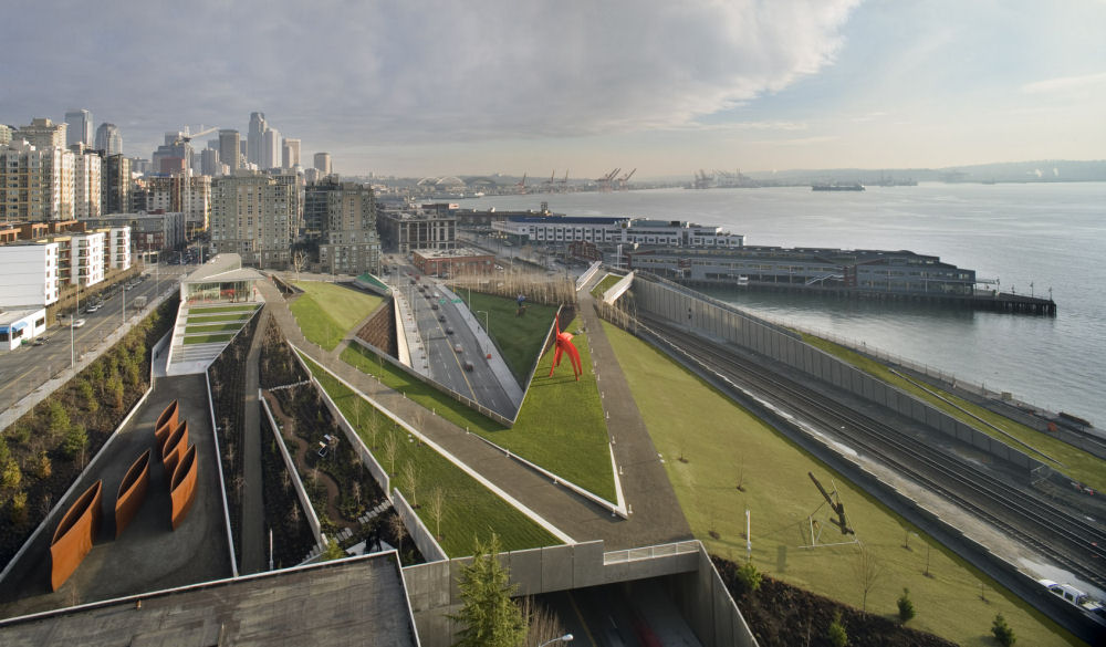 Olympic Sculpture Park Seattle Usa Space Factory