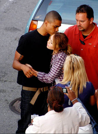 Miley Cyrus News - Unofficial Fan Blog: Miley hugs Tanz Watson on LOL