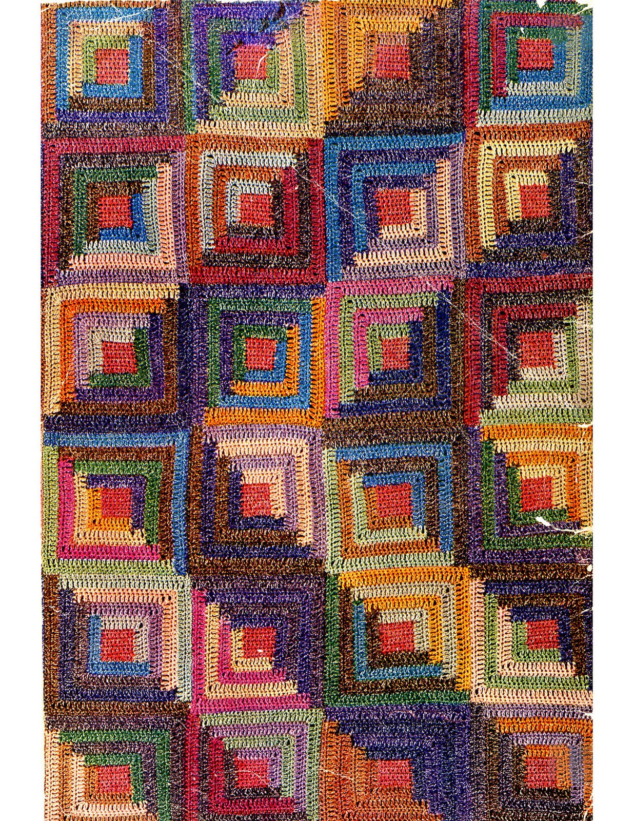 Log Cabin Patterns : Afghan cabin crochet log pattern patterns