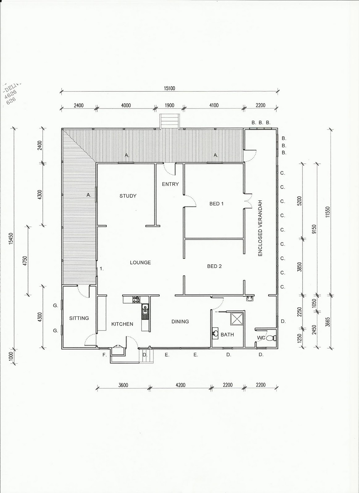 Queenslander floor plans detailed floor plans of tv for Queenslander floor plans