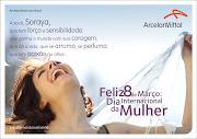 Cartão para funcionárias em comemoração ao Dia da Mulher. Texto. 2010.