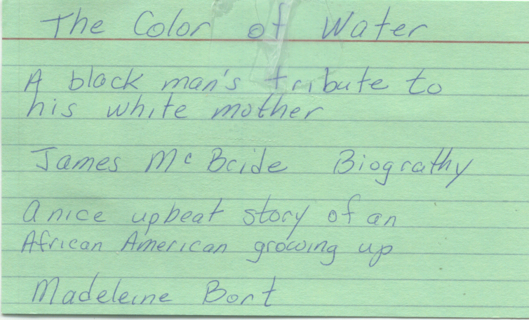 critique and summary of the color of water an autobiography of james mcbride Summary | excerpt  the color of water by james mcbride email x critics' opinion: readers' opinion  i am a avid reader and the color of water is the best.