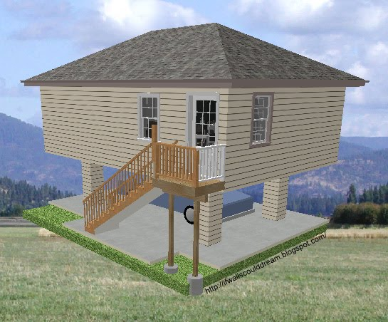 If Walls Could Dream Two Story 500 Sq Ft Home