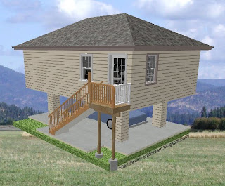 If walls could dream two story 500 sq ft home for 500 sq ft garage