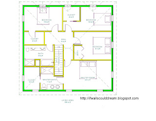 This is the second floor plan. The master suite goes along the bottom
