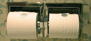 There is no choice, only toilet paper.