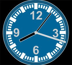 classic blue free flash clock