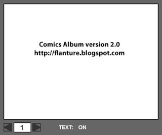 comics album flash application preview
