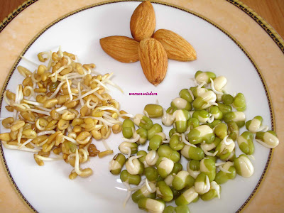 health benefits of sprouts and almond