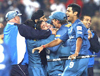 Deccan charges celebrates victory in IPL