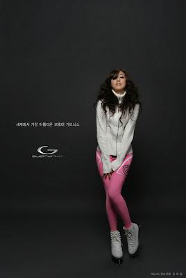 Asian Hot Celebrity: Kim Ha Yul Making Skating and Skiing Sexy