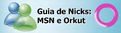 Foto Guia de Nicks para msn e Orkut