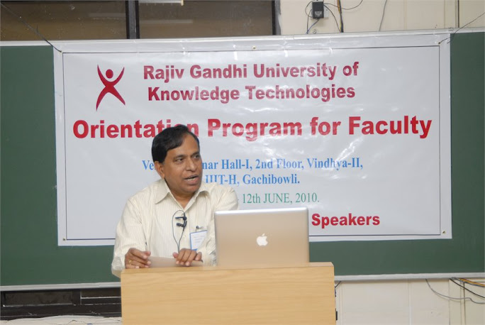 RGUKT Vice Chancellor K.C.Reddy