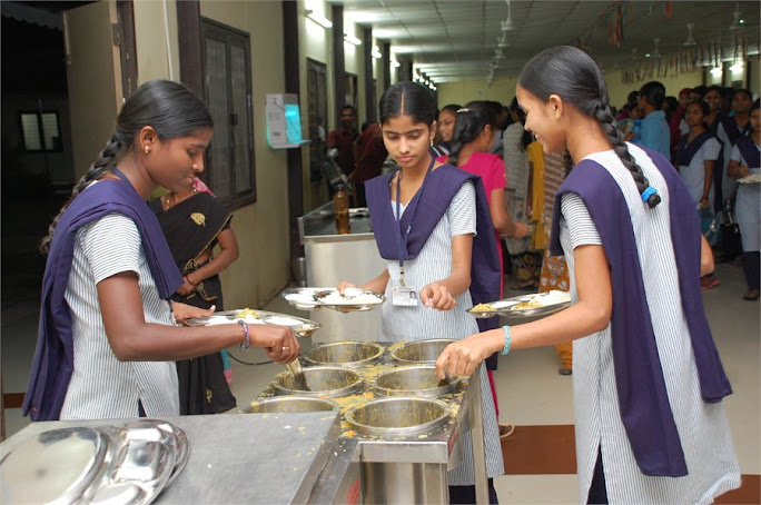 Students At Dining Hall