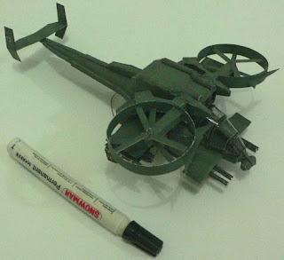 Бумажная модель вертолета из фильма Аватар