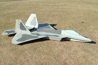 Чертежи радиоуправляемой авиамодели F-22 Raptor