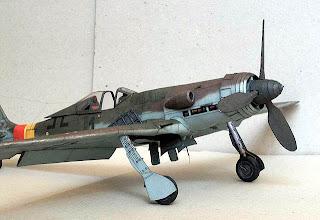 Чертежи бумажной авиамодели Focke Wulf Ta-152H
